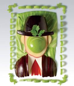 Magritte Son of Man Apple Face Vegetable Art