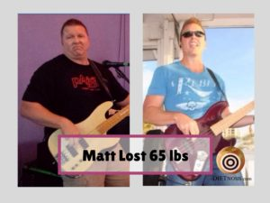 Matt Buckner lost 65 pounds