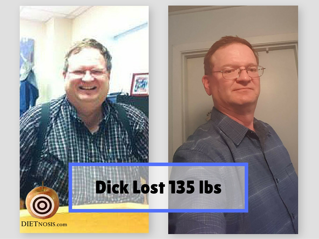 Dick Hawks lost 135 pounds